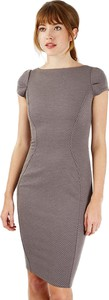 Brązowa sukienka Closet z krótkim rękawem