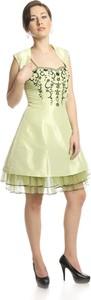 Żółta sukienka Fokus z tiulu midi
