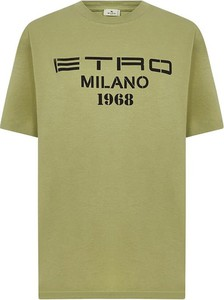 Bluzka Etro z bawełny z krótkim rękawem