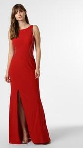 Czerwona sukienka Mascara bez rękawów z okrągłym dekoltem prosta