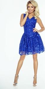 Sukienka imesia.pl w koronkowe wzory na sylwestra bez rękawów