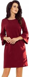 Czerwona sukienka NUMOCO trapezowa mini