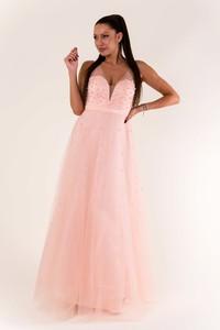 Różowa sukienka Eva&Lola bez rękawów