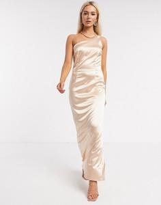 Złota sukienka Tfnc bez rękawów