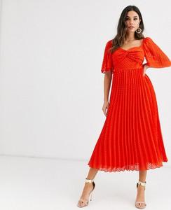 Sukienka Asos Design maxi z dekoltem w kształcie litery v