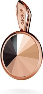 GIORRE SREBRNY WISIOREK SWAROVSKI RIVOLI 925 : Kolor kryształu SWAROVSKI - Rose Gold, Kolor pokrycia srebra - Pokrycie Różowym 18K Złotem