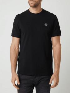 Czarny t-shirt Fred Perry w stylu casual z bawełny