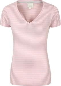 Różowa bluzka Mountain Warehouse z okrągłym dekoltem z tkaniny w stylu casual