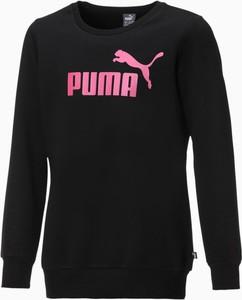 Czarna bluza dziecięca Puma z bawełny