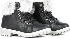 Czarne buty dziecięce zimowe Royalfashion.pl
