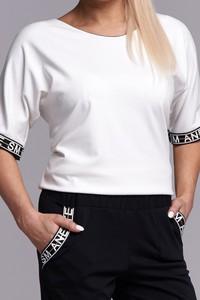 Bluzka Ella Boutique w stylu casual z okrągłym dekoltem