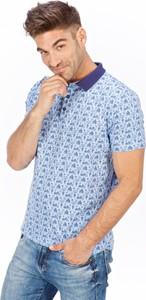 T-shirt Lanieri Fashion z nadrukiem z krótkim rękawem z bawełny