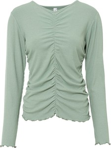 Zielona bluzka bonprix w stylu casual z długim rękawem