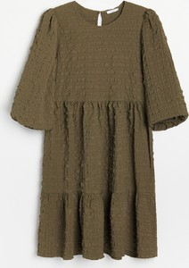 Sukienka Reserved oversize mini z tkaniny