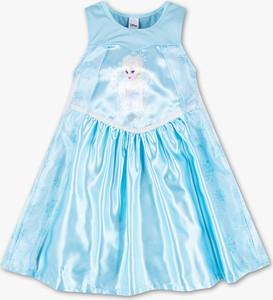 Niebieska sukienka dziewczęca C&A z tiulu