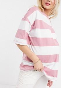 Różowy t-shirt Asos z krótkim rękawem