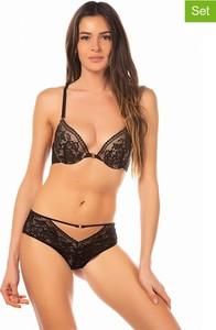 Czarny komplet bielizny Just For Victoria