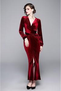 Sukienka Tina z długim rękawem maxi