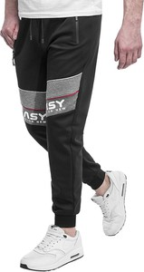 Czarne spodnie sportowe Risardi z dresówki