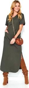 Sukienka Makadamia w stylu casual maxi z krótkim rękawem