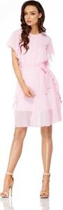 Różowa sukienka Lemoniade z krótkim rękawem