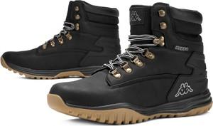 Buty zimowe Kappa sznurowane w sportowym stylu ze skóry