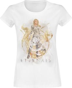 T-shirt Emp z bawełny w młodzieżowym stylu z okrągłym dekoltem
