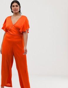 Pomarańczowy kombinezon LOVEDROBE z długimi nogawkami