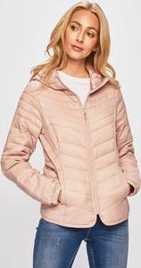 Różowa kurtka Only krótka w stylu casual