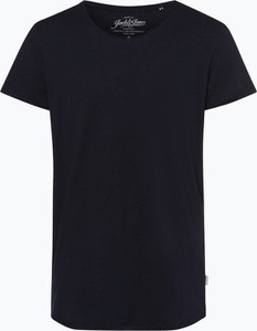 Granatowy t-shirt Jack & Jones w stylu casual