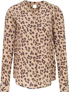 Bluzka BOSS Casual z dekoltem w kształcie litery v z długim rękawem