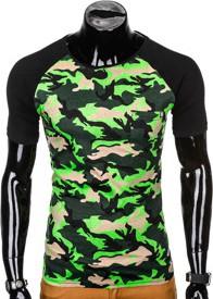 T-shirt Ombre Clothing z bawełny w militarnym stylu