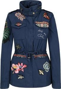 Niebieska kurtka Desigual w stylu casual