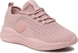 Różowe buty sportowe Big Star z płaską podeszwą sznurowane