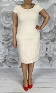 5e2c455b08 Sukienka Dorota z okrągłym dekoltem dla puszystych z krótkim rękawem