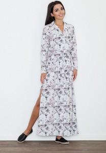 Sukienka Figl w stylu casual prosta z długim rękawem