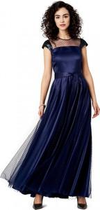 Granatowa sukienka POTIS & VERSO maxi