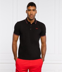 Czarny t-shirt Hugo Boss w stylu casual