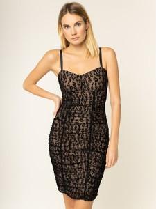 Sukienka Guess z dekoltem w kształcie litery v mini dopasowana