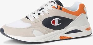 Champion - Tenisówki męskie z dodatkiem skóry, biały
