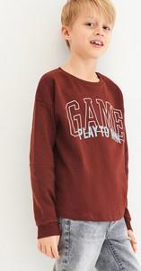 Czerwona koszulka dziecięca Reserved z długim rękawem dla chłopców
