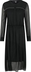 Sukienka DKNY maxi z okrągłym dekoltem
