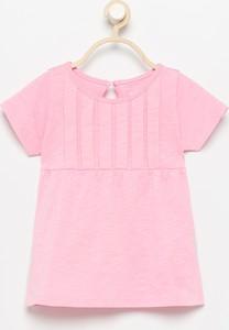 Różowa koszulka dziecięca Reserved dla dziewczynek