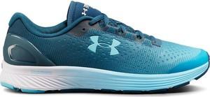 Niebieskie buty sportowe Under Armour z płaską podeszwą w sportowym stylu
