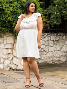 Sukienka KARKO mini z bawełny z krótkim rękawem
