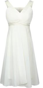 Sukienka Fokus rozkloszowana midi z dekoltem w kształcie litery v