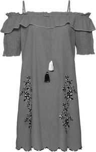 Sukienka bonprix BODYFLIRT boutique z dekoltem w łódkę mini