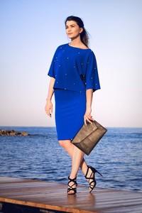 Niebieska spódnica Bien Fashion midi