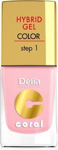 Delia Cosmetics, Coral Hybrid Gel, emalia do paznokci nr 04 róż pastelowy, 11 ml