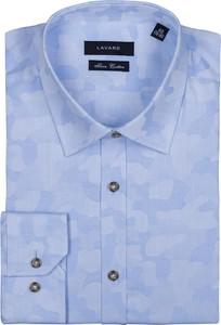 Koszula Lavard z tkaniny z długim rękawem w militarnym stylu